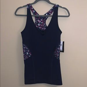 GapFit small workout floral tank NWT